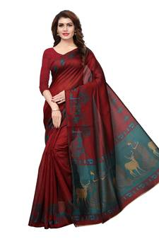 cdf76e1ef9c1a Maroon Color Sarees - Buy Maroon Saree online   Best Prices