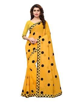 9201b9d0986972 Yellow Sarees - Buy Yellow Color Saree online @ Best Prices