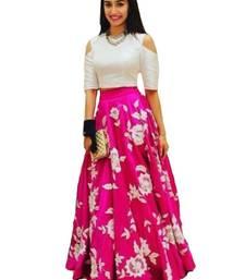 Buy pink embroidery art silk unstitched lehenga women-ethnic-wear online