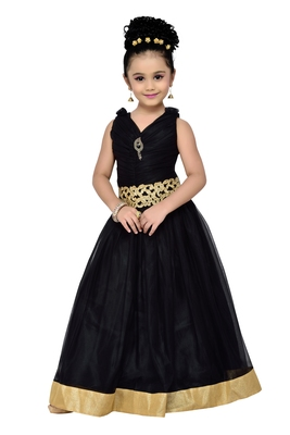 Black Kids Partywear Gown For Girls