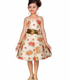 Cream Kids Partywear Frock