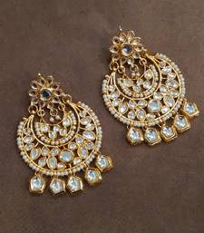 Buy Tasha Kundan Chandbali Earrings chandbali online