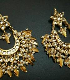 Buy Nigaar Kundan chandbali Earrings chandbali online
