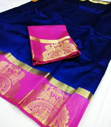 Buy Multicolor woven raw silk saree with blouse women-ethnic-wear online