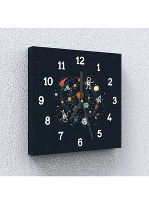Space Time Canvas Wall Clock by Engrave