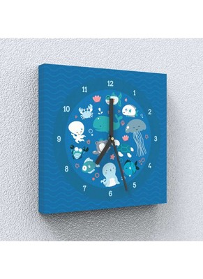 See Sea Canvas Wall Clock by Engrave