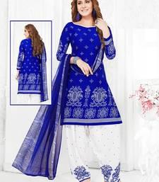 Buy Multicolor Printed Crepe Salwar With Dupatta multicolor-salwar-kameez online