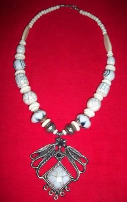 Mystic White Ceramic Beads