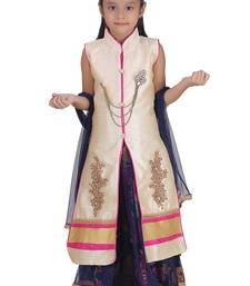 Pink Embroidered Net Kids Lehenga Choli