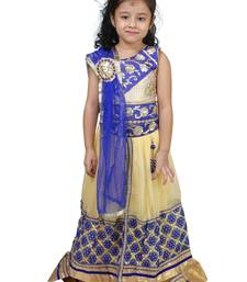 Gold Embroidered Net Kids Lehenga Choli