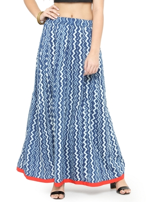 Indigo Cotton magzi Cotton skirts