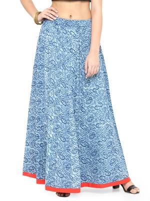 Indigo Cotton magzi Cotton skirts