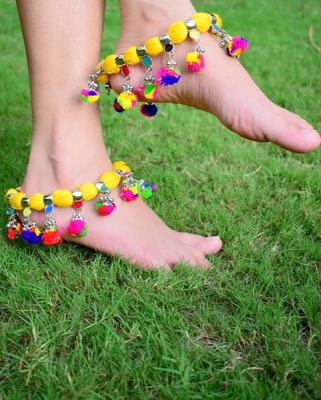 Yellow anklets