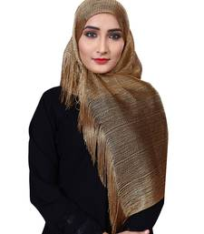 Flame Color Soft Plain Lace Work Hijab Dupatta Scarf For Women