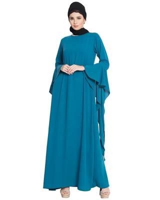Blue Nida Plain Abaya