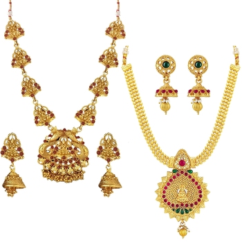 Multicolor crystal jewellery-combo