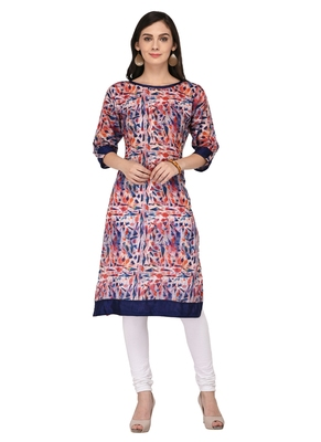 Multicolor Cotton Silk Designer Long Party Wear Kurti