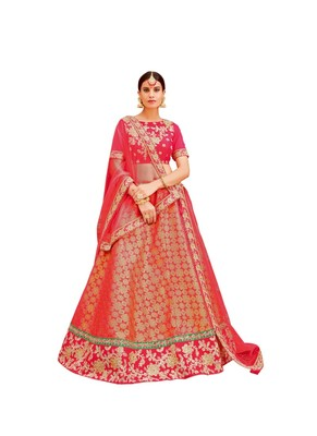 Pink Color Embroidered Designer Lehenga Choli