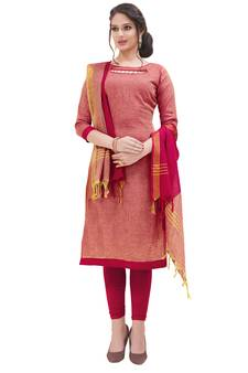 d60d8bf521 63% OFF Buy Pink digital print cotton salwar with dupatta readymade-suit  online