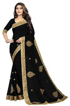 798acbdb52a0d0 Black Sarees - Buy Black Color Saree online @ Best Prices