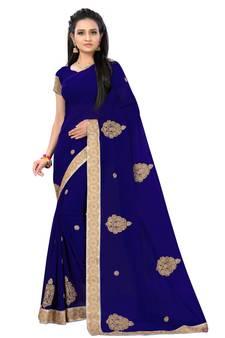 8fe3f11a30 Blue Sarees - Buy Designer Blue Color Saree online @ Best Prices