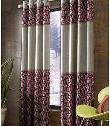 Buy 2 Pcs ( Two Pcs ) Door Size 4 Feet x 7 Feet - Anti Rust Eyelets-90% Blackout panel Durable Curtains- Pink curtain online