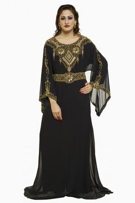 Black Buy This Moroccan Jalabviya Takhita Var For Women Gown Dress