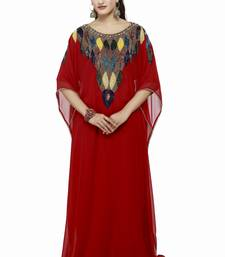 Red Dubai Morocan Arabic Islamic Kaftan Dress