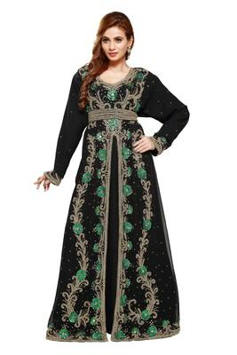Black Ethinc Women Arabic Elegant Lowest For Daily Use Kaftan