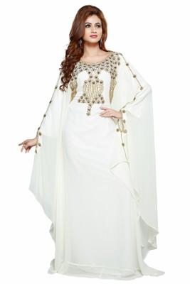 Off white Dubai Moroccan Arabic Islamic Kaftan Dress