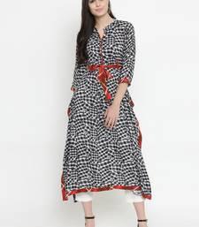 Indibelle Black woven rayon kurti with trouser