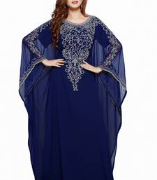Navy Blue Buy This Moroccan Jalabviya Takhita Var For Women Gown Dress