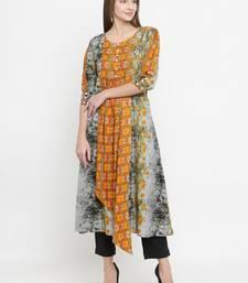Indibelle Grey woven rayon kurti with trouser