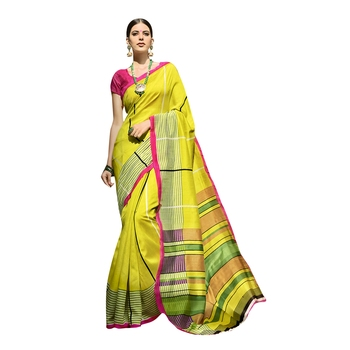 Shaily Multicolor Printed Cotton Silk Saree With Blouse