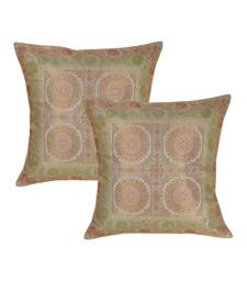 Lal Haveli Sofa Decorations Square Shape Silk Throw Pillow cushion Covers 16 x 16 Inch Set of 2 Pcs
