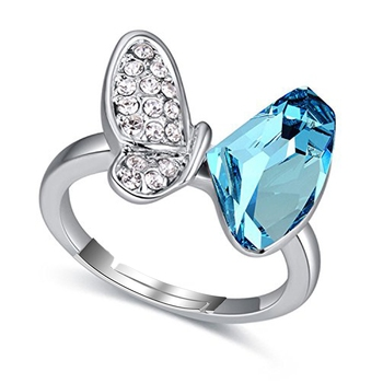 Blue cubic zirconia cz-rings