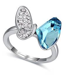 Blue cubic zirconia cz-rings