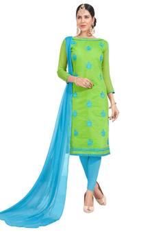 c875d0d5e2 Green Suits Online   Buy Green Color Salwar Kameez from Best ...