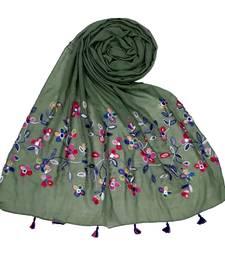Green Premium Cotton Hijab