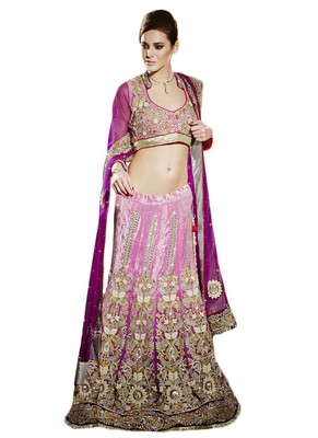 Multicolor Velvet And Dupatta Net Embroidered And Stone Work Unstitched Lehenga Choli