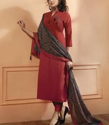 Red silk salwar with dupatta