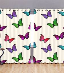 Buy CURTAIN FOR WINDOW BLACKOUT ROOM DARKENING EYELET POLYESTER CURTAINS MULTI COLOR curtain online