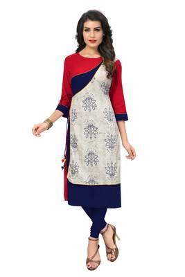 Multicolor printed cotton kurti
