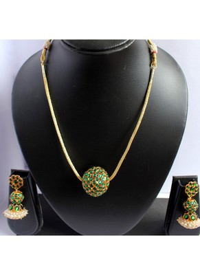 Green Gold Plated Necklace Sets