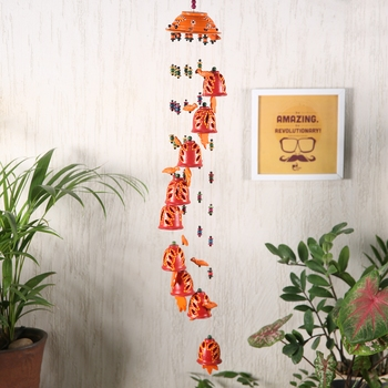 Aapno Rajasthan Red Wind Chime For Diwali Decoration