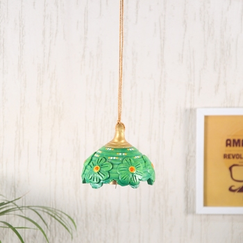 Aapno Rajasthan Green Bell Hanging for Diwali Decoration
