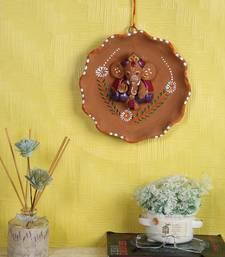 Buy Aapno Rajasthan Multicolor Terracotta Floral Shape Wall Showpiece wall-art online