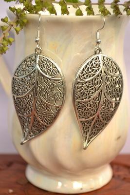 Oxidised silver handcrafted jhumka jhumki navratri earrings for ethnic clothing