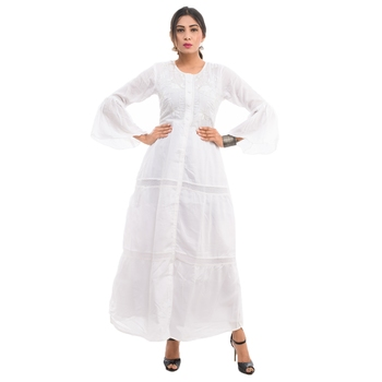 White plain cotton kurtis