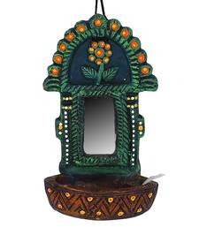 Aapno Rajasthan Traditional Wall Mount Oil Diya With Mirror